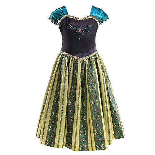 CVERRE Girls Anime Costume Coronation Classical Shinning Anna Princess Dress (140)