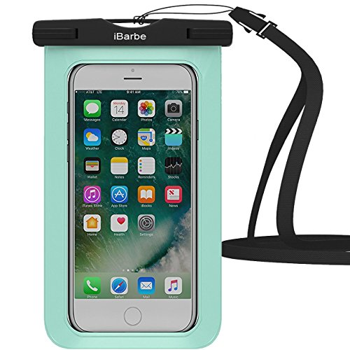 Price comparison product image Waterproof Case,1 Pack iBarbe Universal Cell Phone Dry Bag Pouch Underwater Cover for Apple iPhone 7 7 plus 6S 6 6S Plus SE 5S 5c samsung galaxy Note 5 s8 s8 plus S7 S6 Edge s5 etc.to 5.7 inch,Teal