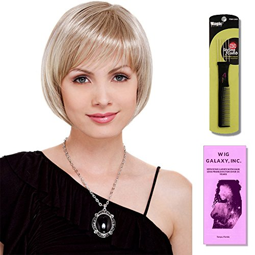 Charm Petite by Estetica, Wig Galaxy Hair Loss Booklet & Magic Wig Styling Comb/Metal Pick Combo (Bundle - 3 Items), Color Chosen: R51 by Estetica & Wig Galaxy