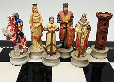 Medieval Times Crusades Chess Men Set Arabians vs Christians Crusade - NO BOARD