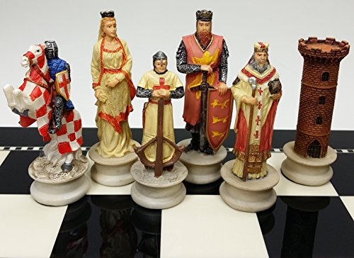 Medieval Times Crusades Chess Men Set Arabians vs Christians Crusade - NO BOARD
