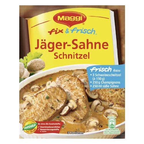 MAGGI fix & fresh creamy hunter schnitzel (Jäger-Sahne Schnitzel) (Pack of 4) ()