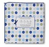 SwaddleDesigns Ultimate Receiving Blanket, Navy Dots and Stars, Baby & Kids Zone