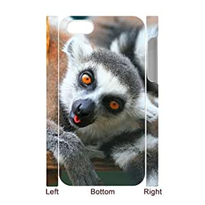 HXYHTY Diy hard Case Lemur customized 3D case For Iphone 4/4s