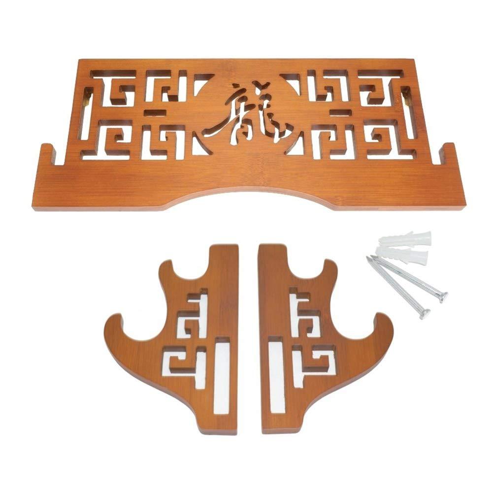 FOXSMZZ Support pour /ép/ée en Bambou Support Mural Katana Support pour Support d/ép/ée de samourai Japonais Support /à 2 Niveaux