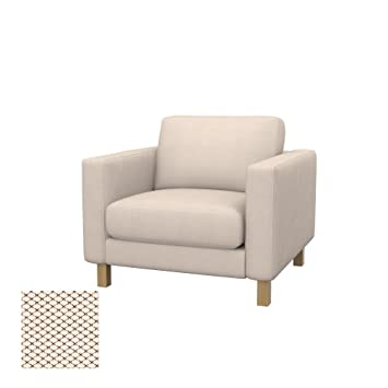 Soferia - IKEA KARLSTAD Funda para sillón, Nordic Creme ...