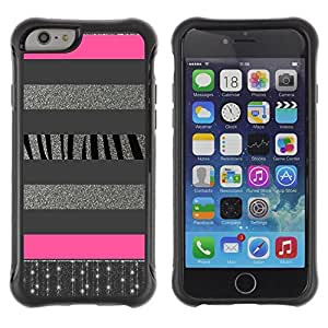Suave TPU GEL Carcasa Funda Silicona Blando Estuche Caso de protección (para) Apple Iphone 6 / CECELL Phone case / / Silver Lines Glitter Pattern Pink /