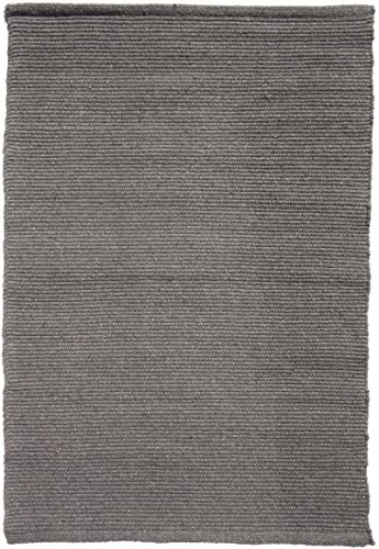 Solid Grey Hand-Woven Washable Flatweave Eco Cotton Rug 5 'x