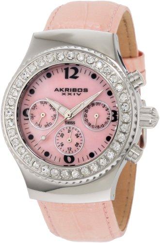 Akribos XXIV Women's AKR449PK Ultimate Swiss Chrono Pink ()