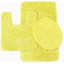 yellow bathroom rug sets