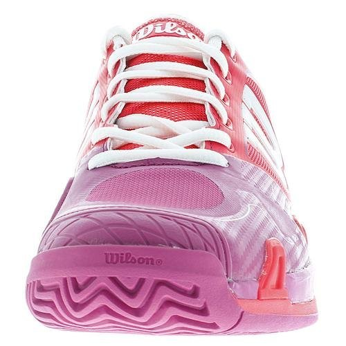 Wilson Womens Rush Pro 2.0 Neon Red/Pink Athletic Shoe