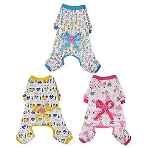 Widen Pet Dog Clothes Pajamas Coat Jumpsuit,3color 4 Sizes 100