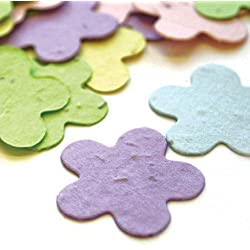 Five Petal Plantable Seed Confetti in Pastel Mix Value Pack (two 350 piece bags = 700 pieces of seed confetti) by BPW