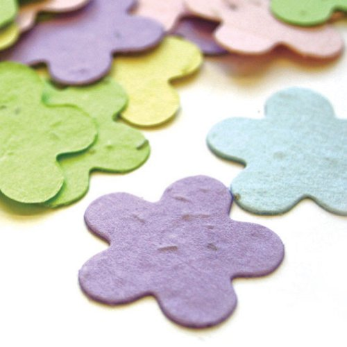 - Five Petal Plantable Seed Confetti in Pastel Mix Value Pack (two 350 piece bags = 700 pieces of seed confetti) by BPW