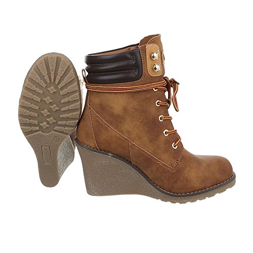 Women's Design Ital Heel Boots Wedge Wedge Boots Camel at S122 Ankle rw8qxr0p