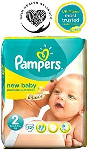Pampers Nueva Pañales Para Niños Tamaño 2 Acarreo Pack - 32 Pañales (Paquete de 6): Amazon.es: Hogar