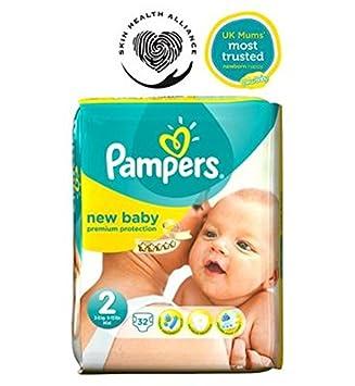 Pampers Nueva Pañales Para Niños Tamaño 2 Acarreo Pack - 32 Pañales (Paquete de 6