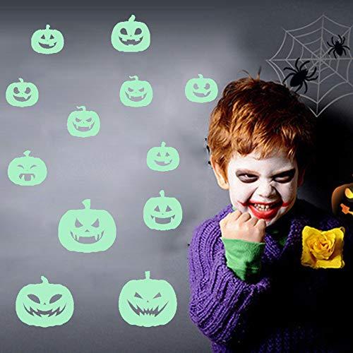 Euone  Wall Sticker Clearance , Luminous Pumpkin Decals Home Room Decors Halloween Mural Stickers Poster