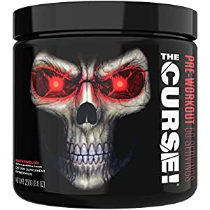JNX Sports The Curse! Pre Workout Supplement – Intense Energy & Focus, Instant Strength Gains, Enhanced Blood Flow – Nitric Oxide Booster with Creatine & Caffeine – Men & Women | Watermelon | 50 SRV