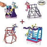 Khfun Finger Monkey Swing Set + Finger Monkey Seesaw + 2 PCS Finger Jungle Gym Palyset For Finger Monkey Kids Gift