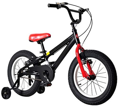 YSA キッズバイクスポーツBoy' sキッズキッズ自転車チャイルドバイクブラック16トレーニングホイール自転車
