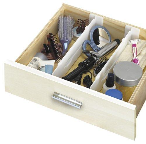 Simplify Set of 2 Adjustable Depth Drawer Organziers