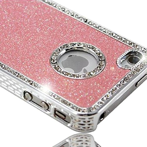 Nouveau iPhone 5 5s Bébé rose Mousseux Paillettes et Diamanté Studded clip on Dur Coque couverture case cover Pare-chocs par Mobile Case Mate