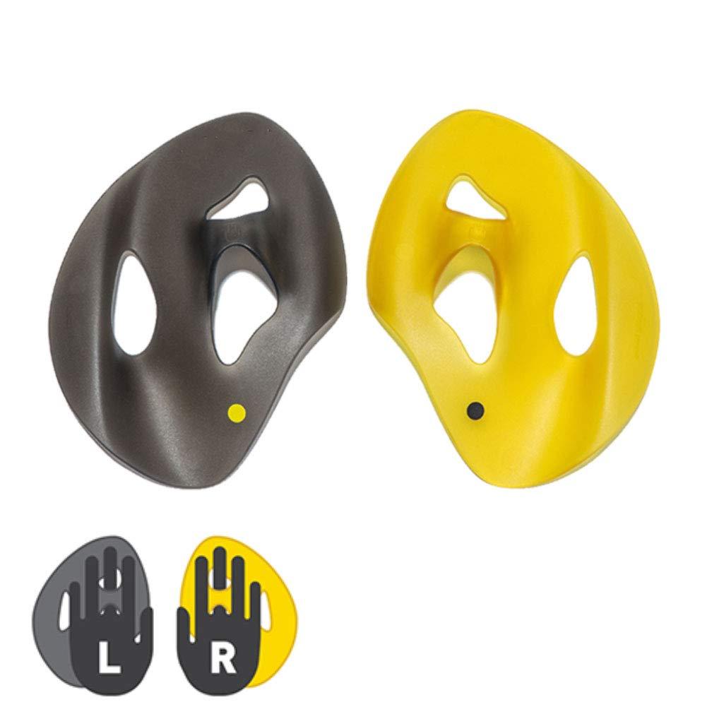 水泳ストロークのための半分のやし手錠なしの大人の訓練の手錠の練習のパドリング