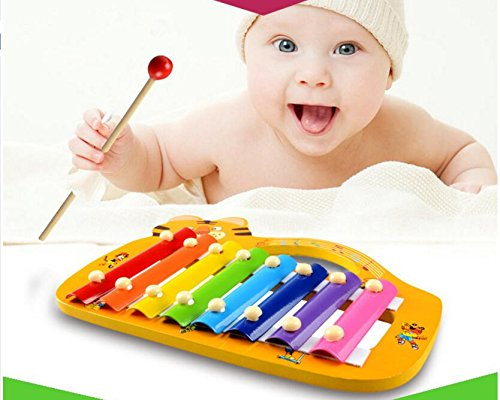 Polymer Musical Toys Frog Shape Wooden Xylophone Piano Wooden Hand Knock Xylophone for Baby Learning Music(Green) by Polymer (Image #4)
