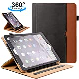 ZoneFoker New iPad Air 3 10.5 inch 2019 Tablet Leather Case, 360 Degree Rotating Multi-Angle Viewing Auto Sleep/Wake Folio Stand Cases with Pencil Holder for iPad Air3 3rd Generation - Black/Brown