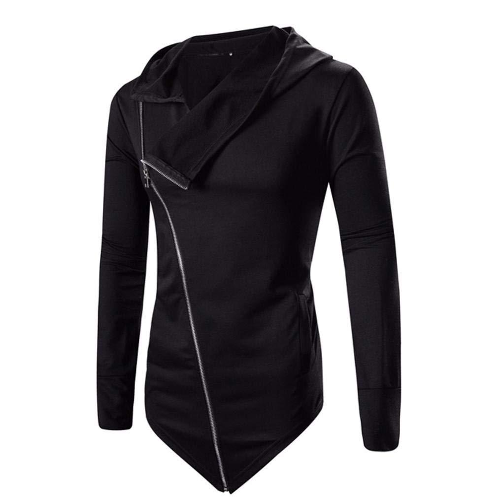 Sharemen Men Zipper Coat Outwear Winter Long Sleeve Swearshirt