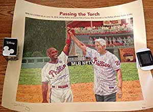 Jimmy Rollins Dick Perez Phillies Hit Leader Season Ticket Holder Litho LE 500