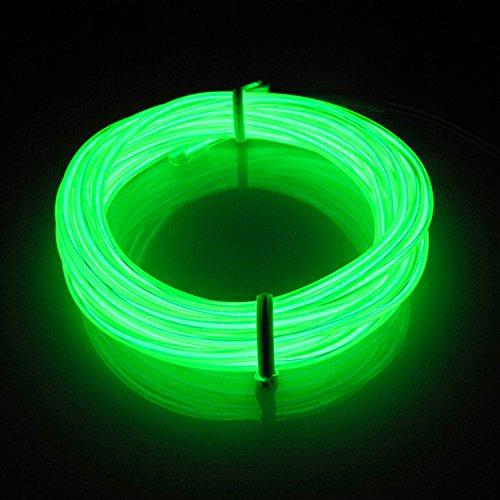 2 opinioni per Lerway 5m Flessibile EL Wire Neon LED Elettroluminescente Luce + Controllo della