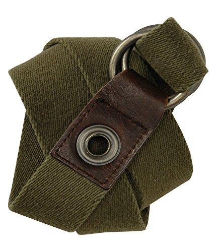 Aeropostale Mens Knit Olive Green Woven Belt olivegreen S/M