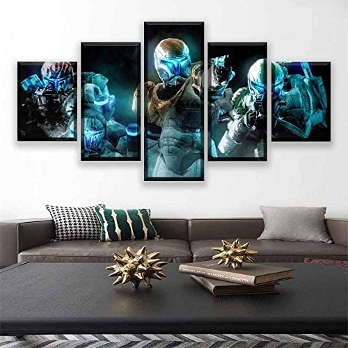 AUUA canvasdruk Wall Art Modular Canvas Artwork 5 Movie Poster Prints Abstract Painting Decoration Living Room Picture Frame Print op canvas