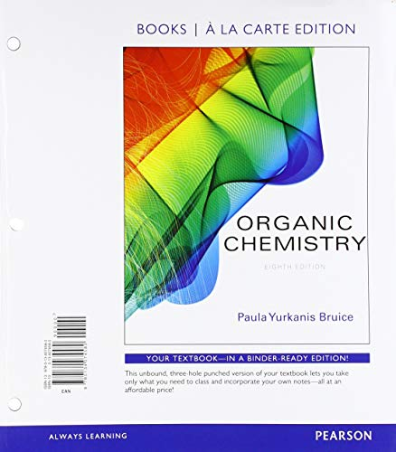 Organic Chemistry, Books a la Carte Edition; Organic Chemistry Study Guide and Solutions Manual, Books a la Carte Edition; Mastering Chemistry with ... Card -- for Organic Chemistry (8th Edition)