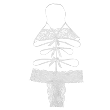Amazon.com: Joint Hot Sale! Clearance! Plus size! Womens Sexy Lingerie Babydoll Lace Bow Dress Nightwear G-string Sleepwear 3 Colors (Large, White): Health ...