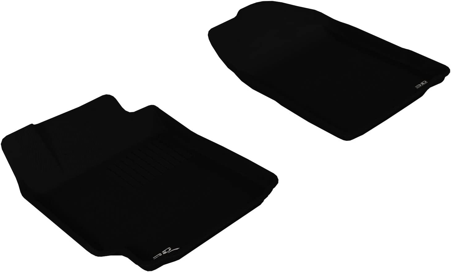 1st Row, Gray Kagu Series 3D MAXpider All-Weather Floor Mats for Toyota Camry 2007-2011 Custom Fit Car Floor Liners