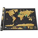 TK Eletronics Scratch Map Deluxe Edition Travel Map Stylish Scratch Map Deluxe Edition An Inspirational Gift For All Travellers