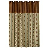 HiEnd Accents Alamosa Western Shower Curtain, 72 by 72''