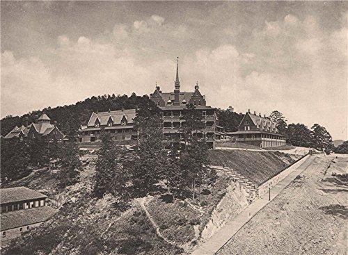 - Army and Navy Hospital, Hot Springs, Arkansas. Albertype print - 1893 - old print - antique print - vintage print - Arkansas art prints