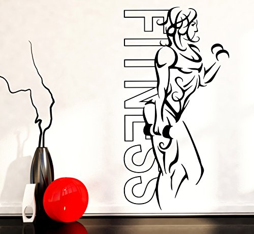 Wall Vinyl Stickers Woman Fitness Sport Girl Model Cool Modern Decor z1648m - Wall Mural Model