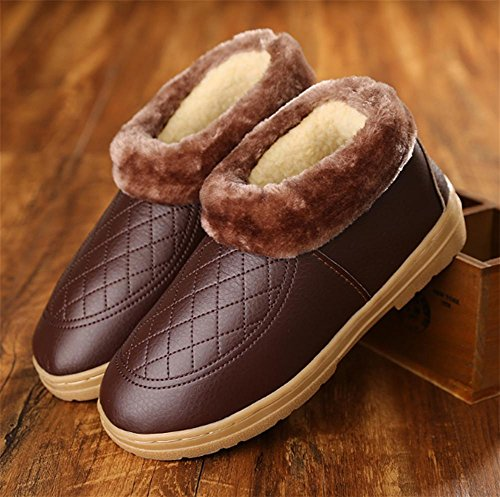 W&XY Cotton slippers Non-slip winter Keep warm Home indoor Wooden floor Men's plus size slippers 43 14CzPolO