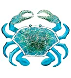 Regal Art & Gift 18.25 Inches X 1 Inches X 15.5 Inches Metal/Glass Wall Decor Crab - Blue