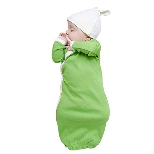 f0c77ca95 Amazon.com  2Pcs Newborn Infant Baby Girls Boys Solid Long Sleeve ...