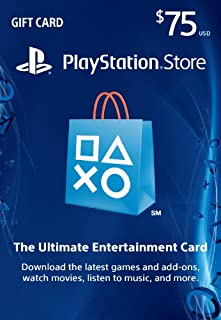 $75 PlayStation Store Gift Card [Digital Code] (B00K59HHHU) | Amazon Products