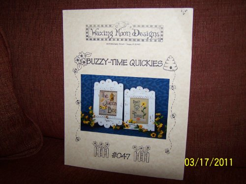 BUZZY - TIME QUICKIES #047 Cross Stitch Instructions by Waxing Moon Designs