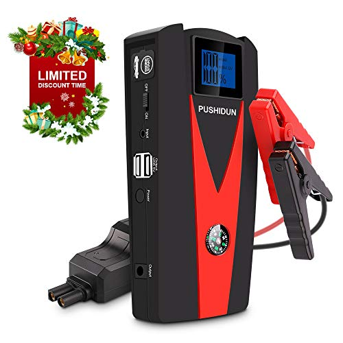 PUSHIDUN 1500 Car Jump Starter, 12V 800A 15000mAh Peak  Port