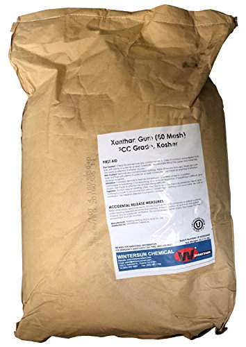 Xanthan Gum [C35H49O29] [CAS_11138-66-2] FCC Grade, Kosher 99+% White/ Cream 80 Mesh (55.12 Lbs Bag) by Wintersun Chemical