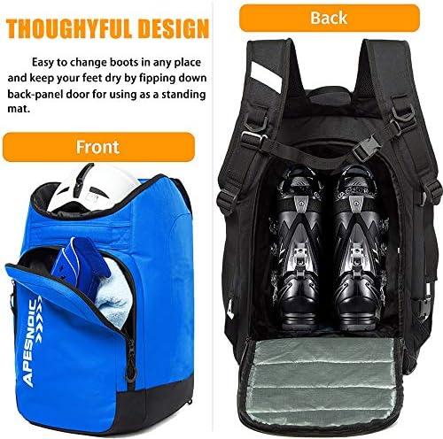 MERALIAN Ski Boot Bag,50L Ski Boot Travel Backpack,Water-Resistant Snowboard Boot Bag for Ski Boots, Helmet, Goggles, Gloves.